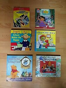 6 X Children's Books - Play School/ Dora The Explorer/ Sesame Street/ Winnie ...