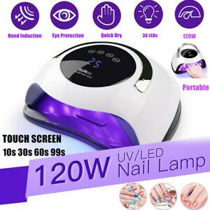 120W Nail Lamp UV LED Light Professional Nail Polish Dryer Art Gel Curing Device