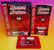 Maximum Carnage Sega Genesis COMPLETE Rare & Tested Game Marvel Venom Spider-Man