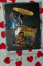 MINT Disney Lilo and Stitch Dangle Pin and Square Pin Lot - Super cute!