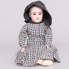 "Antique German Kestner 22"" Bisque Head Doll Dep 10 / 154 Leather Body No Hair"
