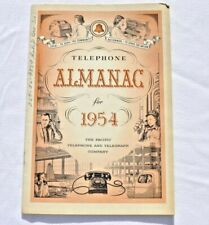Vintage 1954 Telephone Almanac Pacific Telephone And Telegraph Co.
