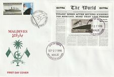 More details for maldives 27 sept 1998 rms titanic miniature sheet vle first day cover