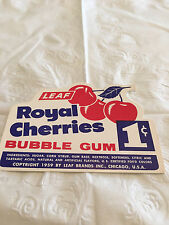 Gumball Machine Display Card #97 Royal Cherries Bubble Gum - 1 Cent
