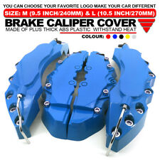4Pcs Blue Brake Caliper Covers Style Disc Universal Car Front Rear Kits L+M WL1