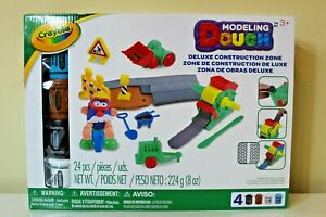 Crayola Modeling Dough Deluxe Construction Zone 24 pieces Ages 3+ Sealed New