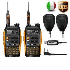 2* Baofeng GT-3 Mark II V/U 136-174/400-520Mhz Dual Band Radio Ricetrasmittent