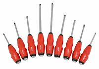 9pc Soft Grip Go Through Screwdriver Set Impact Cap Hammer Magnetic Tip
