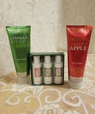 Bath & Body Vanilla Bean Noel & Winter Candy Apple 8oz Body Creams + 3 pack 6oz.