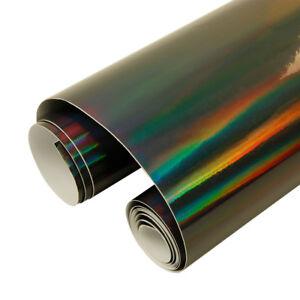 149cm Width Holographic Laser Chrome Vinyl Car Wrap Film 7 Colors Choose