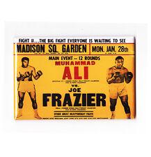 MUHAMMAD ALI vs FRAZIER / SUPER FIGHT 2 - VINTAGE BOXING POSTER FRIDGE MAGNET