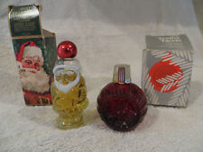 Avon Christmas Cologne Jolly Santa and Festive Facets with Original Boxes