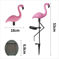 Flamingo Lawn Lamp Waterproof LED Solar Power Light Garden Stake Landscape Decor