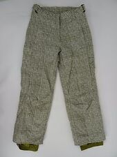 Obermeyer Snowboard Pants Green Plaid Womens size 4