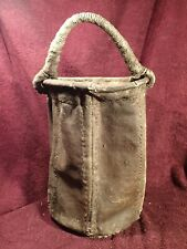 SCARCE 1800-s ANTIQUE CANVAS !! FIREFIGHTING BUCKET SCANDINAVIA FINLAND FINNISH
