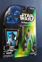 1996 Kenner Star Wars Greedo Green Card Power of the Force 3.75 Action Figure