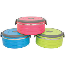 SINGLE LAYER 0.6L FOOD CONTAINER ASSORTED COLOURS STORER STORAGE HOT OR COLD CAN