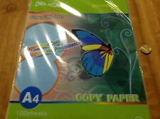 Deligao A4 Coloured Copy Paper Light Blue 100 Sheets