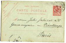 Carte postale PAP de colonie Française au levant 10c mouchon CAD Constantinople
