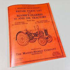 Massey Harris Ferguson 55 55k Tractor Gas Kerosene Parts Manual Catalog