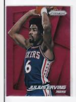 2014-15 Julius Erving #/49 Panini Prizm 76ers Red prizm