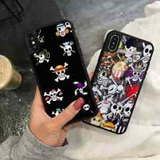 Cartoon One Piece Logo Poster Silicone Cover Case for iPhone Samsung Huawei