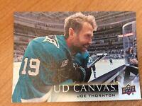 UPPER DECK 2018-2019 SERIES TWO CANVAS JOE THORNTON HOCKEY CARD C-184