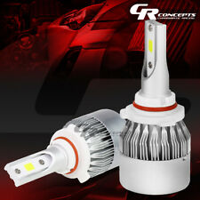 2 PCS 6000K H10 WHITE LED HIGH/LOW BEAM HEADLIGHTS REPLACEMENT BULBS+COOLING FAN