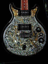 One of a Kind Collectable Swarovski O'Donnell Custom Electric Guitar The Swan