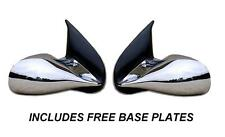 CHROME M3 MANUAL PAIR OF DOOR WING MIRRORS PEUGEOT 307 E MARKED INCL BASE PLATES