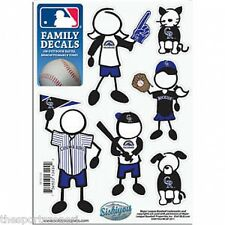 Colorado Rockies Family Decals Set of 6