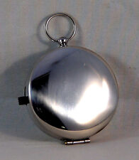 MAGNETIC COMPASS-JEWELLED NEEDLE, NON-GLARE, BLACK LUMINOUS DIAL, CHROME CASE!!