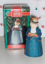 1990 Hallmark Ornament New Mr Ashborne Dickens Caroler Bell #1 New In Box/Tag