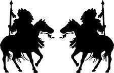 "Native American Indian Riding Horse Vinyl Car Decals (2 - 10"" x 14"")"