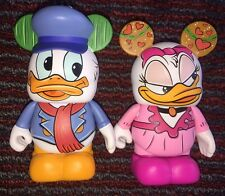 New Disney Vinylmation Mickey's Christmas Carol Fred (Donald) & Isabelle (Daisy)