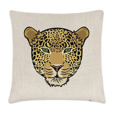 Leopard Face Linen Cushion Cover Pillow - Funny Animal