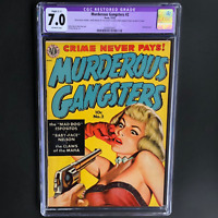 MURDEROUS GANGSTERS #2 (Avon 1951) 💥 CGC 7.0 Restored 💥 ONLY 20 in CENSUS!