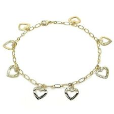 Fill Heart Anklet 14K Solid Gold