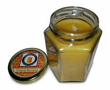 100 Percent  Pure Beeswax Jar Candle, 8 oz, Natural Honey Scent