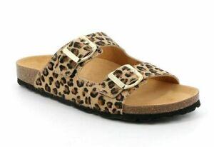 GRÜNLAND sandali CIABATTE SARA CB2457 beige multi LEOPARDO donna SOFT