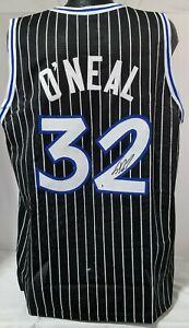 Shaquille O'Neal Shaq Signed Custom Black Orlando Player Jersey (XL) BAS COA 608