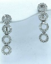 Diamond Earrings set in 18k White Gold with 1.20ct total weight