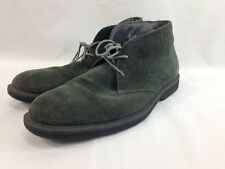 Bass Timothy Chukka Shoes Mens 11 M Green Leather Suede Desert Boots Lace Up