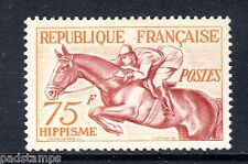 France 1953 75fr Horse riding Mint never hinged MNH SG 1190
