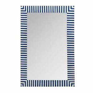 bone inlay mirror, handmade wooden modern striped pattern mirror frame gift item