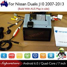 "7"" Android 6.0 Head Unit Quad Core Non-DVD GPS  Car Pad  For Nissan Dualis J10"