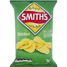 SMITHS  CHICKEN CRINKLE POTATO CHIPS 90GM CARTON OF 18