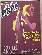 MOODY BLUES in LET IT ROCK Mag.No 22 July'74 +RAY CHARLES+LOU REED+SHANE F+++Ex!