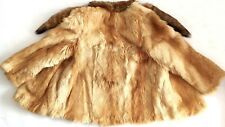 Women Vintage Real Genuine Red Fox Fur Coat Tail Collar Scarf Echt Pelz M L 8 10