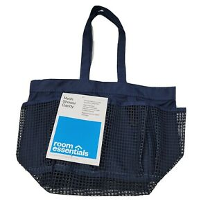 Room Essentials Shower Caddy Mesh 8-Pocket Portable Quick-Dry Travel Tote NEW